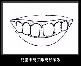 門歯の間に隙間がある
